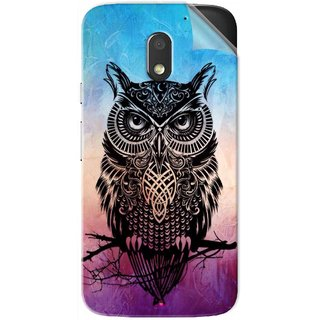 Snooky Printed warrior owl Pvc Vinyl Mobile Skin Sticker For Motorola Moto E3 Power