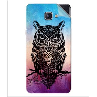 Snooky Printed warrior owl Pvc Vinyl Mobile Skin Sticker For Samsung Galaxy A9 Pro