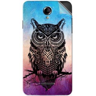 Snooky Printed warrior owl Pvc Vinyl Mobile Skin Sticker For Panasonic Eluga L2