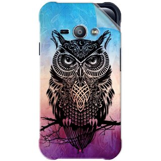 Snooky Printed warrior owl Pvc Vinyl Mobile Skin Sticker For Samsung Galaxy Ace J1
