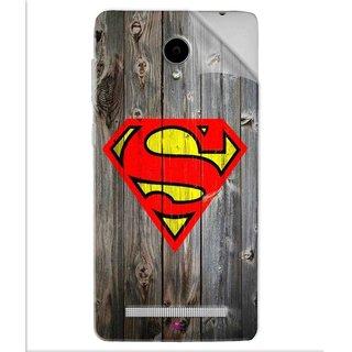 Snooky Printed Wood Super man Pvc Vinyl Mobile Skin Sticker For Vivo Y28