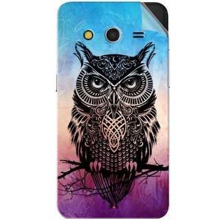 Snooky Printed warrior owl Pvc Vinyl Mobile Skin Sticker For Samsung Galaxy Core 2
