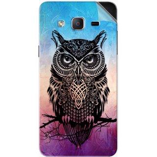 Snooky Printed warrior owl Pvc Vinyl Mobile Skin Sticker For Samsung Galaxy On5 Pro