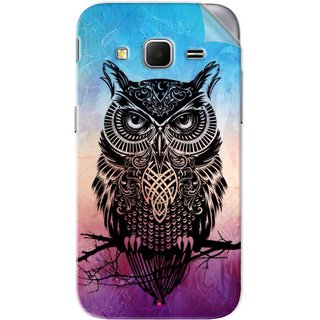 Snooky Printed warrior owl Pvc Vinyl Mobile Skin Sticker For Samsung Galaxy Core Prime