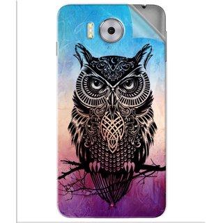 Snooky Printed warrior owl Pvc Vinyl Mobile Skin Sticker For Panasonic Eluga Note