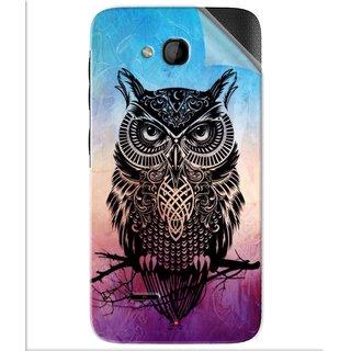 Snooky Printed warrior owl Pvc Vinyl Mobile Skin Sticker For Panasonic Love T35