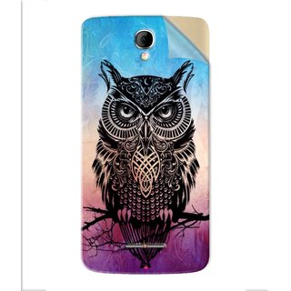 Snooky Printed warrior owl Pvc Vinyl Mobile Skin Sticker For Panasonic P50 Idol