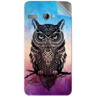 Snooky Printed warrior owl Pvc Vinyl Mobile Skin Sticker For Intex Aqua 3G Pro