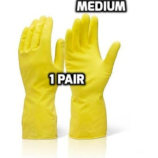 Waterproof Cleaning Household Gloves for Kitchen, Dish Washing, Laundry, Perfect For Garden and Household Tasks,Size M