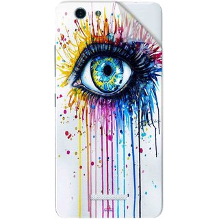 Snooky Printed eye artists Pvc Vinyl Mobile Skin Sticker For Gionee S Plus