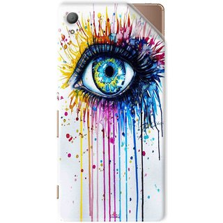 Snooky Printed eye artists Pvc Vinyl Mobile Skin Sticker For Sony Xperia Z4