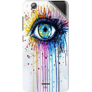 Snooky Printed eye artists Pvc Vinyl Mobile Skin Sticker For Gionee Pioneer P5 mini