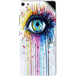 Snooky Printed eye artists Pvc Vinyl Mobile Skin Sticker For Gionee Elife S7