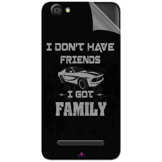 Snooky Printed fast and furious quotes Pvc Vinyl Mobile Skin Sticker For LYF Wind 6