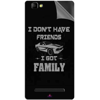 Snooky Printed fast and furious quotes Pvc Vinyl Mobile Skin Sticker For LYF Wind 7