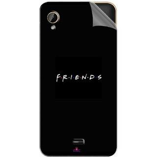 Snooky Printed Friends Pvc Vinyl Mobile Skin Sticker For Intex Cloud 4G Smart