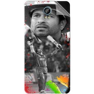 Snooky Printed Sachin Tendulkar Win Pvc Vinyl Mobile Skin Sticker For Intex Aqua Life 2