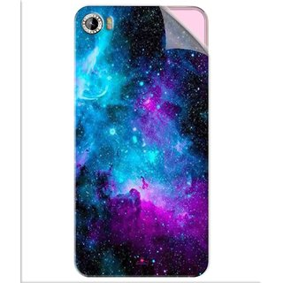 Snooky Printed Galaxie spirale Pvc Vinyl Mobile Skin Sticker For Intex Aqua Glam