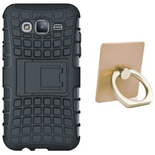 Oppo A37F Defender Tough Hybrid Shockproof Cover with Ring Stand Holder