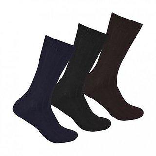 3 Pair Combo Cotton Fit Socks For Men's