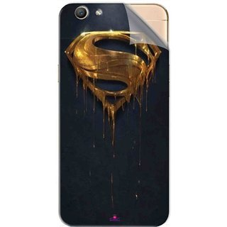 Snooky Printed Gold Super Man Pvc Vinyl Mobile Skin Sticker For Oppo F1s