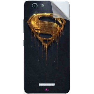 Snooky Printed Gold Super Man Pvc Vinyl Mobile Skin Sticker For Gionee S Plus