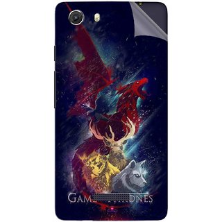 Snooky Printed Game of Thrones Pvc Vinyl Mobile Skin Sticker For Micromax Canvas Unite 3