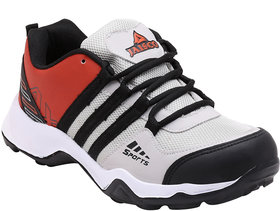 Smartwood laceup black grey red running sport shoes for men