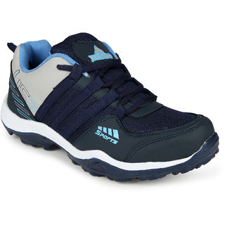 Smartwood laceup  navy blue  running sport shoes for men