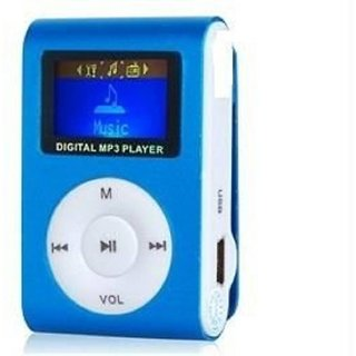 Others Mini Digital MP3 Player With Micro SD Slot Mini Digital MP3 Player With Micro SD Slot MP3 Player (Blue  1.2 Display)
