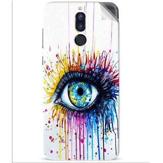 Snooky Printed eye artists Pvc Vinyl Mobile Skin Sticker For Huawei Honor 9i