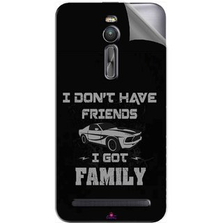 Snooky Printed fast and furious quotes Pvc Vinyl Mobile Skin Sticker For Asus Zenfone 2 ZE551ML