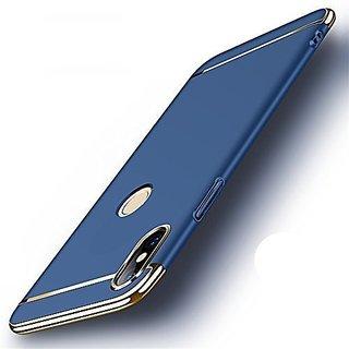 SK  New Chrome 3IN1 Luxury Full body Protective Back cover for Vivo V9/Vivo V9 Youth  ( blue