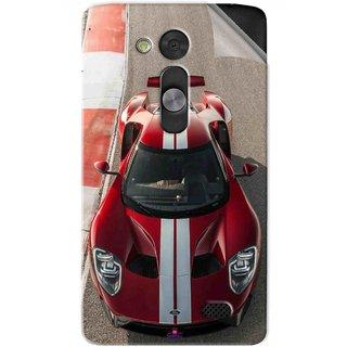 Snooky Printed Ford GT Racing Car Pvc Vinyl Mobile Skin Sticker For LG L Fino