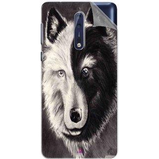 Snooky Printed Fox Yin Yang Pvc Vinyl Mobile Skin Sticker For Nokia 9