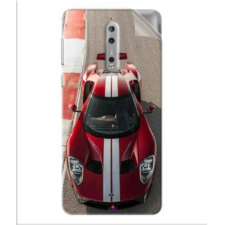 Snooky Printed Ford GT Racing Car Pvc Vinyl Mobile Skin Sticker For Nokia 8