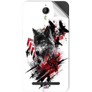 Snooky Printed wolf polka trash Pvc Vinyl Mobile Skin Sticker For Panasonic P77