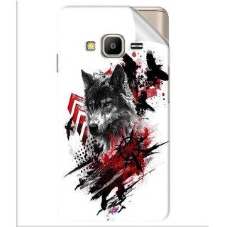 Snooky Printed wolf polka trash Pvc Vinyl Mobile Skin Sticker For Samsung Z2