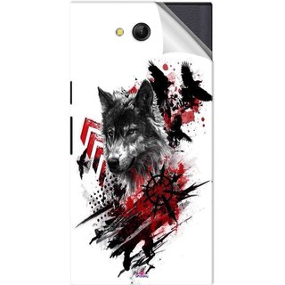 Snooky Printed wolf polka trash Pvc Vinyl Mobile Skin Sticker For LYF Wind 4