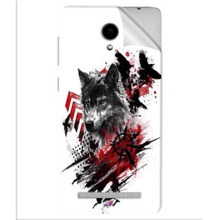 Snooky Printed wolf polka trash Pvc Vinyl Mobile Skin Sticker For Vivo Y28
