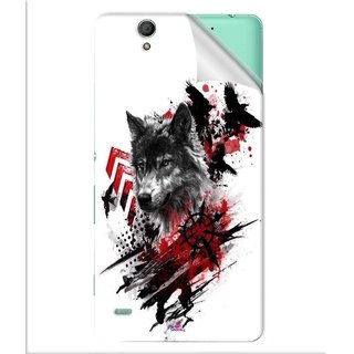 Snooky Printed wolf polka trash Pvc Vinyl Mobile Skin Sticker For Sony Xperia C4