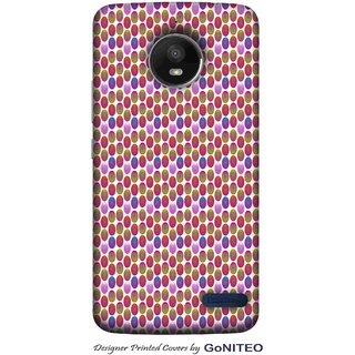 Printed Mobile Phone Back Cover Case for Moto E4 by GoNITEO || Circle || Multi Color || Art ||