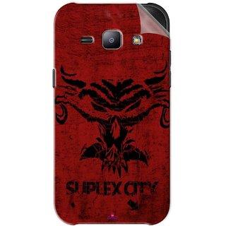 Snooky Printed Suplex City Pvc Vinyl Mobile Skin Sticker For Samsung Galaxy J1