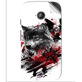 Snooky Printed wolf polka trash Pvc Vinyl Mobile Skin Sticker For Motorola Moto E2
