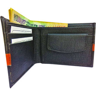 Wallets for men Black with Tan Stripe (M-0024)