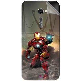 Snooky Printed Iron Man Power Pvc Vinyl Mobile Skin Sticker For Asus Zenfone 2 Laser ZE500CL