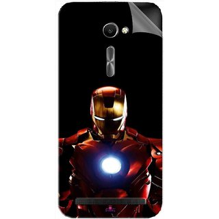 Snooky Printed Iron Man Heart Pvc Vinyl Mobile Skin Sticker For Asus Zenfone 2 ZE500CL 5.0