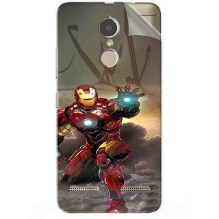 Snooky Printed Iron Man Power Pvc Vinyl Mobile Skin Sticker For Lenovo K6 Power