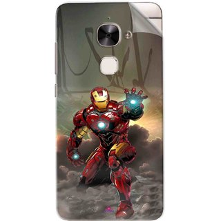 Snooky Printed Iron Man Power Pvc Vinyl Mobile Skin Sticker For Letv Le 2