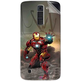 Snooky Printed Iron Man Power Pvc Vinyl Mobile Skin Sticker For LG K7